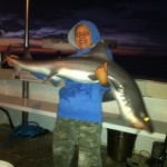 Cory, 11 Years Old caught his first gummy with us 15kg !!! Wed 14th March, 2012