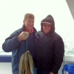 Tony & Mario with nice feed of Whiting on morning trip Sat 10th March,2012